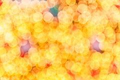 Suddig textur av julljusen Royaltyfria Bilder