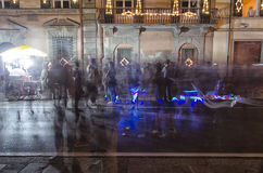 Suddig vision av luminaraen av Pisa Arkivfoton