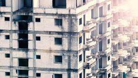 Suddiga bilder av övergiven gammal smutsig byggnad Royaltyfri Foto
