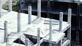 Suddiga bilder av övergiven gammal smutsig byggnad Royaltyfri Bild