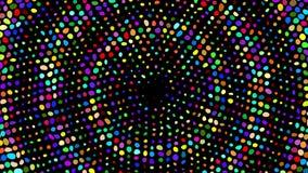 Suddiga Bokeh Mångfärgad bokeh från cirklar Livliga kulöra partiklar stock video