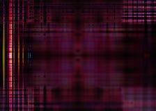 Suddiga ljus på en purpurfärgad bakgrund Arkivfoton