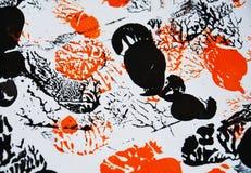Suddiga mjuka apelsinsvartfärger, hypnotisk abstrakt bakgrund Royaltyfri Foto