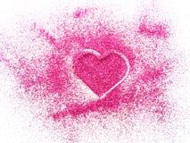 Suddiga rosa färger blänker royaltyfri bild