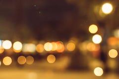 Suddiga stadsljus i natten Royaltyfri Foto