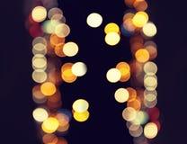 Suddiga trafikljus, stads- abstrakt bakgrund Royaltyfri Foto