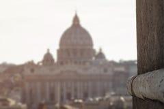 Suddiga Vatican City domkyrkor royaltyfria bilder