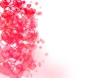 suddighet abstrakt bakgrund dots hjärtor royaltyfri illustrationer