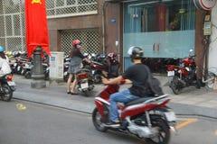 Suddighet av mopedtrafik Royaltyfria Bilder
