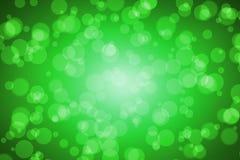 Suddighet Bokeh för grön färg för bakgrund Royaltyfri Fotografi