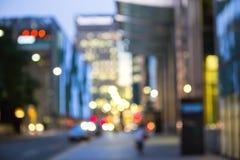Suddighet för nattstadsljus, London Arkivfoton