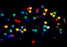 suddigheta hjärtor Hjärta för två rosa färg Älska begreppet för dag för moder` s och dag för valentin` s Vykort för dag för valen Arkivfoto