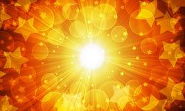 Suddigheta lampor och stjärnor stock illustrationer