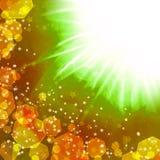 Suddigheta lampor och stjärnor vektor illustrationer