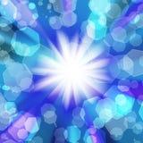 Suddigheta lampor på en blå bakgrund royaltyfri illustrationer