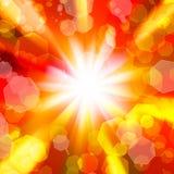 Suddigheta lampor på en guldbakgrund vektor illustrationer