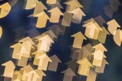 Suddighetsbild med pilformbokeh av ljus Arkivbilder