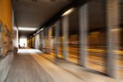 Suddighetseffekt i tunnel Arkivbild