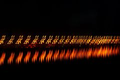 Suddighetsljus på bron Royaltyfri Fotografi