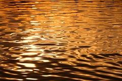 suddighett surface vatten för solnedgång Royaltyfri Fotografi