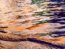 Suddigt abstrakt krusningsvatten på solnedgången Fotografering för Bildbyråer