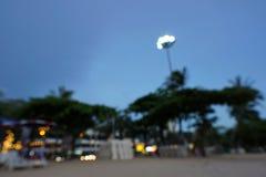 Suddigt för bakgrund av ljus på stranden på Pattaya fotografering för bildbyråer