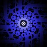 Suddigt för lilor för stamgästrundaprydnad centrerat svart vektor illustrationer