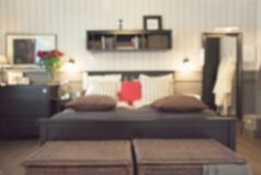 Suddigt modernt sovrum som bakgrund abstrakt modell royaltyfri bild