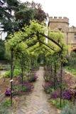 Sudeley Castle garden arch in England Stock Photos