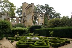 Sudeley Castle garden in England, Europe Royalty Free Stock Images