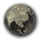 3Sudeste Asiático na terra do óleo Imagens de Stock