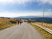 Sudetes oriental, gamme de montagne haut JesenÃk Image stock