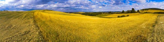 Ακραίο πανοραμικό τοπίο στη σειρά Sudety, Πολωνία Στοκ Φωτογραφίες