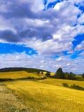 Ακραίο πανοραμικό τοπίο στη σειρά Sudety, Πολωνία Στοκ εικόνες με δικαίωμα ελεύθερης χρήσης