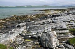 Sudhanais岩石海岸  库存照片