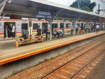 Sudimara Station. Sudimara commuter line station in Serpong, Tangerang, Indonesia Stock Photo
