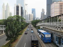 Sudirman road, Jakarta Stock Image