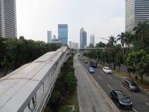 Sudirman road, Jakarta Stock Photo