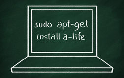 Sudo apt-get install a-life Stock Photography