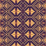 Sudoeste nativo americano, indiano, asteca, teste padrão sem emenda do Navajo Projeto geométrico ilustração stock