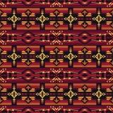 Sudoeste nativo americano, indiano, asteca, teste padr?o sem emenda do Navajo Projeto geom?trico ilustração stock