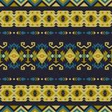 Sudoeste nativo americano, indiano, asteca, teste padr?o sem emenda do Navajo Projeto geom?trico ilustração royalty free