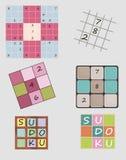 Sudoku集合 库存图片