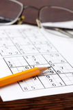 sudoku παιχνιδιών Στοκ Εικόνα