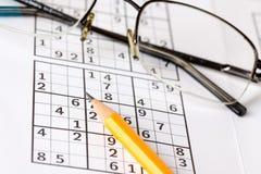 sudoku παιχνιδιών Στοκ φωτογραφίες με δικαίωμα ελεύθερης χρήσης
