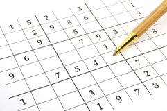 sudoku παιχνιδιών Στοκ Εικόνες