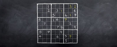 sudoku чемпиона Стоковые Изображения