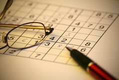 Sudoku Foto de Stock Royalty Free