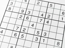 Sudoku. Empty Sudoku Grid to be solved Royalty Free Stock Photography