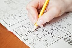 Sudoku Arkivfoto
